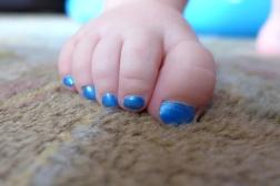 06.08.13   tiny blue toenails