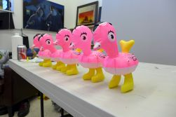 10.21.13 | all my (pink inflatable) ducks in a row