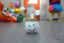 10.23.13   happy styrofoam ball