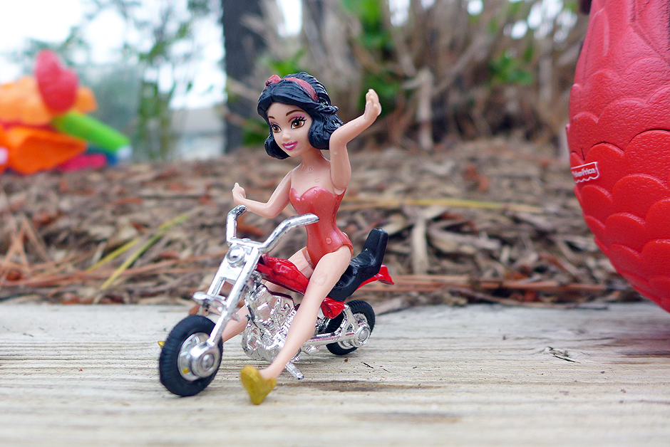 06.13.14   snow white on a motorcycle