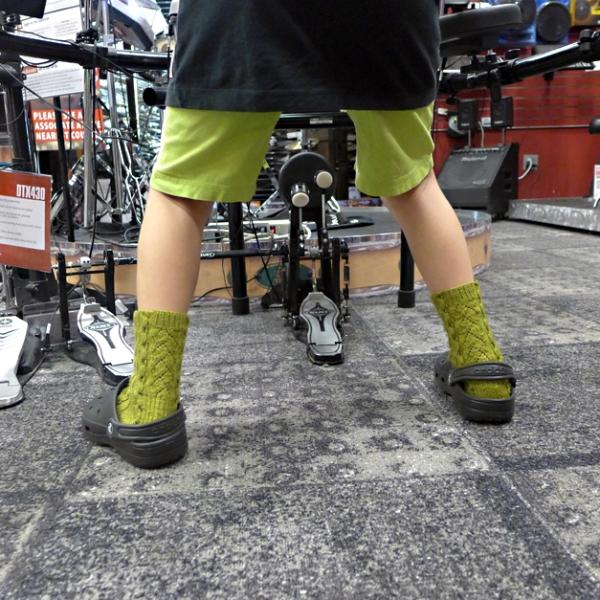 06.07.14 | merino cashmere socks and crocs