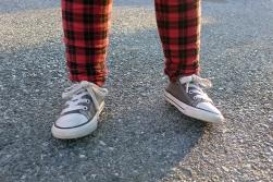 12.20.14   plaid pants and chuck taylors