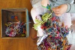 01.24.15   thankful for yarn scraps