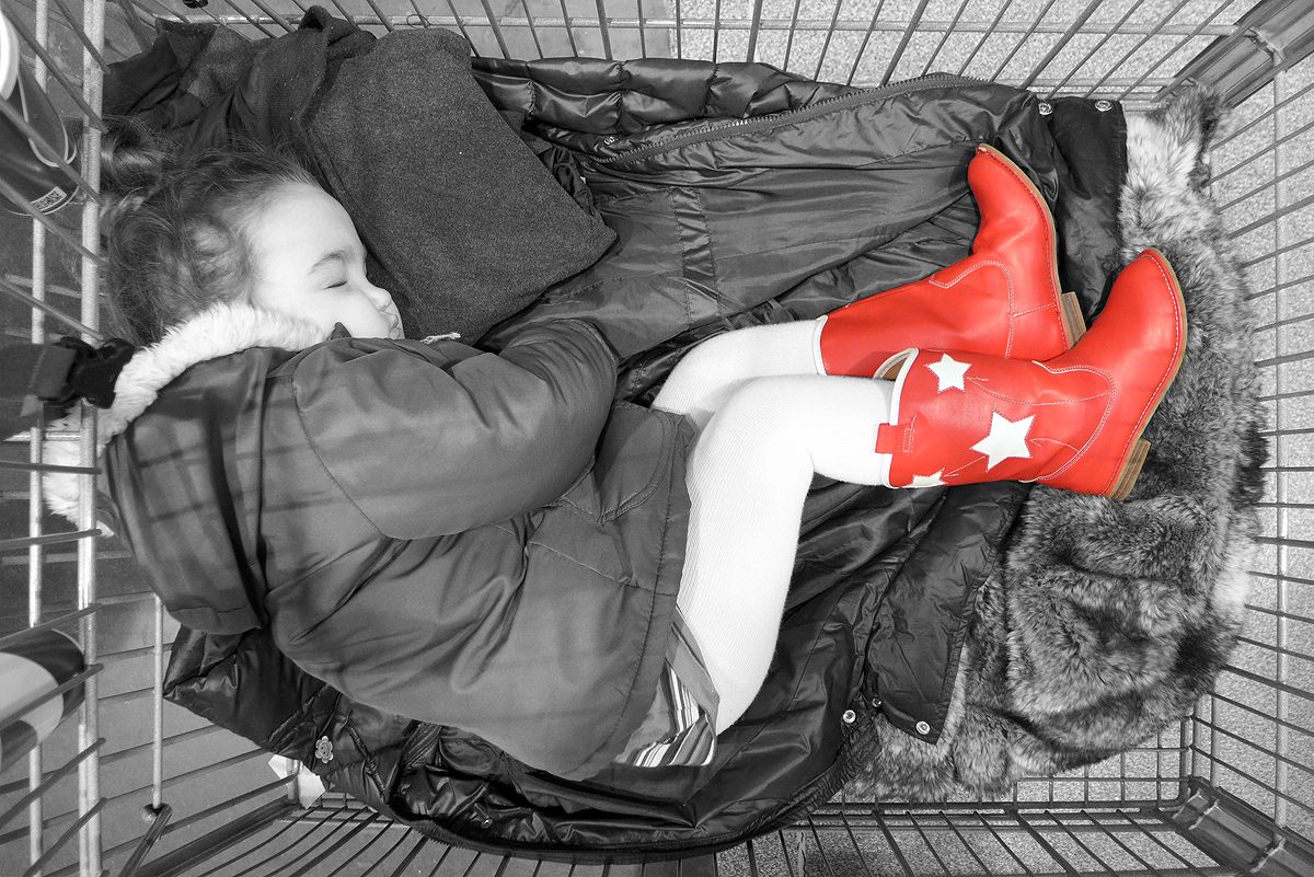 02.07.15 | asleep in a costco shopping cart