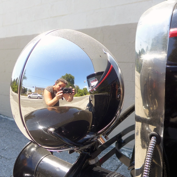 09.08.15 | self portrait in an old car headlight