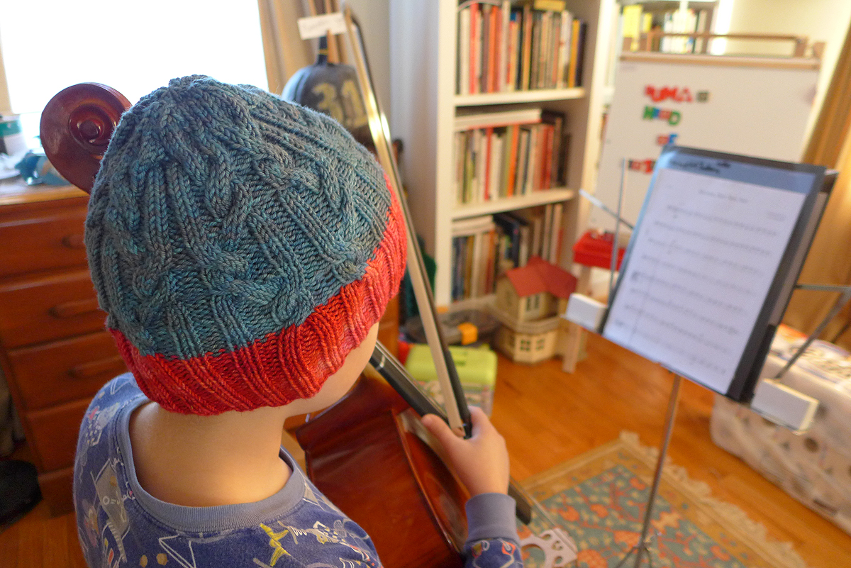 11.19.15 | practicing in pajamas and a new hat