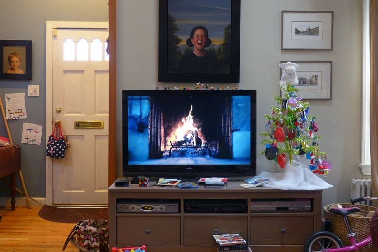 12.25.15 | christmas morning by the warmth of the tv?