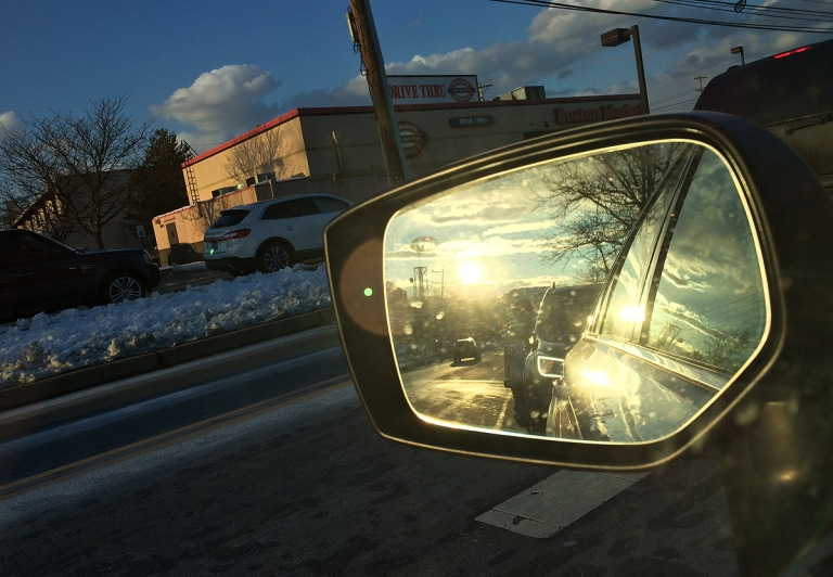 03.08.18 | sunset in my rear view mirror